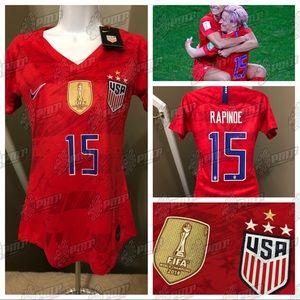 size 40 61c27 98e66 Womens Megan Rapinoe #15 USA Soccer Jersey 4 Stars NWT